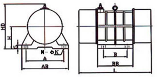 振动电机外形尺寸图